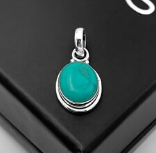 Turquoise Gemstone Sterling Silver 925 Pendant Necklace Jewellery Gift For Her