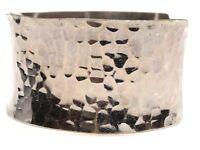 Vintage Ladies Sterling SIlver Hammered Cuff Bracelet - A Must See!