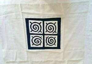 2 Hand Made Quilted Standard Pillow Shams-Light Blue and White-Made in Thailand