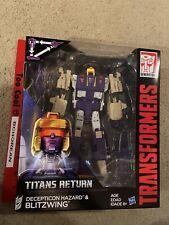 Transformers Titan Returns Blitzwing + Headmaster Hazard Voyager class New