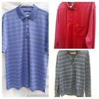Lot 3 Greg Norman For Tasso Elba Play Dry Mens L Polo Golf Short/Long Slv Shirts