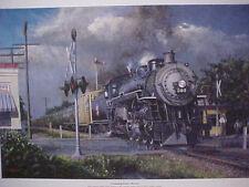 """Railroad Art, Winfield, KATY """"Crossing Knox Street"""", 18X24  s/n"""