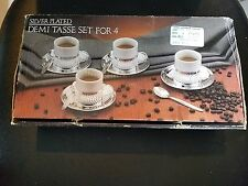 Silver Plated Demi Tasse Set For 4
