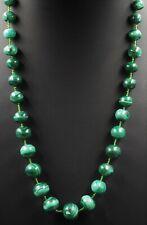Malachite Womens Girls Beaded Necklace Strand Fine Jewllery Graduating Beads