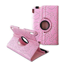"""For Amazon Kindle Fire HDX 7"""" Cover 360 Rotation Diamond Flower Leather Case"""