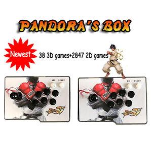 3D Pandora Box 2885 in 1 Classic Video Games Split Home  Console Double Stick