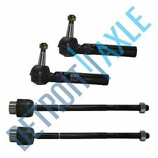 All (4) Inner & Outer Tie Rod Ends for 1997-2005 Chevy Malibu Pontiac Grand AM