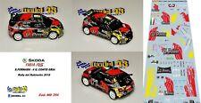 DECAL  1/43 -  SKODA FABIA R5  -  FORNARA  - Rally  RUBINETTO   2018