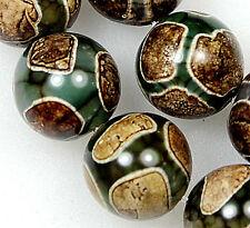 "12mm tibetan Mystical Old Agate Gemstone Round Loose Beads 15"""