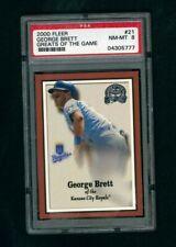 2000 Fleer Greats of the Game #21 Kansas City Royals - George Brett -  PSA 8