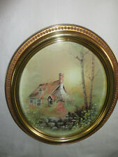 Home Interiors Oval '' Cottage In Woods '' Picture Gorgeous 19.5'' x 23.5''