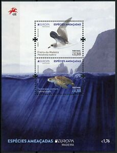 Portugal Madeira Europa Stamps 2021 MNH Endangered Natl Wildlife Turtles 2v M/S