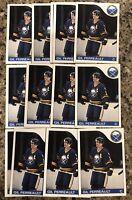 Gilbert Perreault 1985-86 Topps Hockey Card Lot (14) Buffalo Sabres