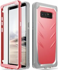 for Galaxy Note 8 Full-body Rugged Case Poetic Revolution Shockproof Cover Pink