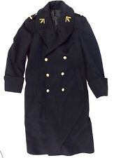 Original Wool Military French Trench Coat Gendarmerie Nationale Size Medium #A3