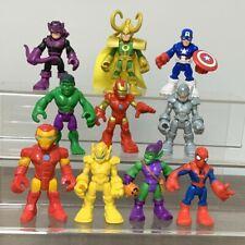 Playskool Marvel Super Hero Squad Adventures Hawkeye Loki Hulk Action Figures