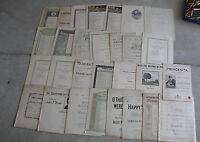 BIG Lot of 29 Late 1800s to Early 1900s Sheet Music Booklets LOOK