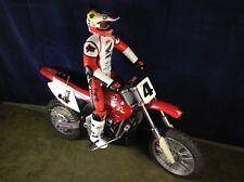 RADIO SHACK #60-4353 HONDA CR-250 RICKY CARMICHAEL RC MOTORCYCLE WITH EXT RIDER