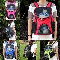 Pet Cat Dog Puppy Backpack Front Mesh Bag Travel Carrier Handbag Shoulder Bags