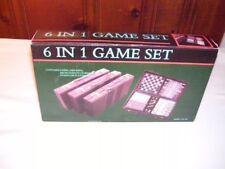 6 In 1 Traveler Board Game Set….New