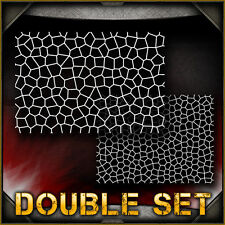 Stained Glass Double Set Airbrush Stencil Template Airsick