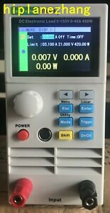 Programmable Electronic Load 0-150V/0-40A 400W 2.8''TFTLCD Battery LED Test USB
