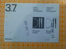 3.7. TICKET VOUCHER Otl Aicher HFG Ulm Olimpiadi 1972 Monaco Munich