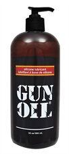 GUN OIL SILICONE LUBRICANT 32 OZ Premium silicone-based lubricant is condom safe
