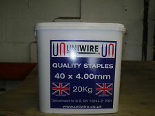 40mm Galvanised Fencing Staples (20kg Tub)