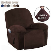 Waterproof Non-slip Suede Stretch Recliner Slipcover Soft Sofa Arm Chair Cover