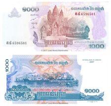 Cambogia 1000 riels 2007 (2015) P-NUOVE BANCONOTE UNC
