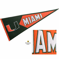 Miami Canes Embroidered and Wool College Pennant