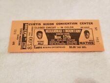 VINTAGE 11-17-1971 Muhammad Ali vs. Buster Mathis FULL TICKET, NMMT!!