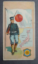 1940's Muth Bakery  Soldiers and Flags card Japan