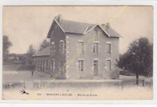 CPA 58140 MARIGNY L'EGLISE Mairie & Ecole Edit ca1927