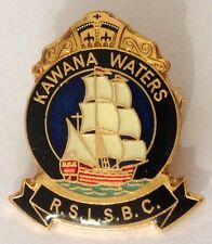 Kawana Waters RSL Bowling Club Badge Pin Vintage Tall Ship Design (L35)