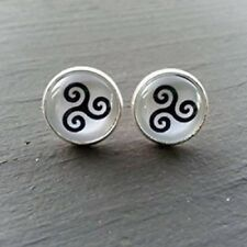 Pair of Teen Wolf Inspired Triskele Symbol Earring Studs Jewelry Birthday Gift