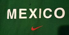 Vintage Nike PRE-OWNED Mexico Size XL Green T-Shirt