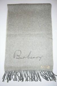 GENUINE BURBERRY BURBERRY'S  GRAY 100% CASHMERE SOLID PLAIN VINTAGE GOOD SCARF