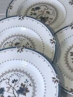 "4 Bone China Royal Doulton Old Colony 8"" Salad Dessert Plates"