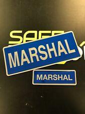 FULLY Encapsulated reflective 250mm SET bagde MARSHAL slide style Flash Patch