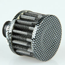 12mm Carbon Fiber Car Air Intake Filter Turbine Fuel Saver Tiny Fan Universal