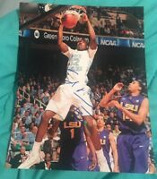 ED DAVIS SIGNED 8X10 PHOTO UNC NORTH CAROLINA NBA LAKERS W/COA+PROOF RARE WOW