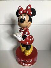 "Vintage Disney Minnie Mouse Reclining Vinyl Plastic Coin Piggy Bank 6"""