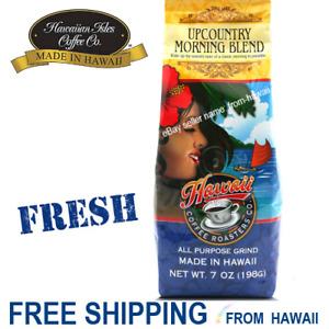 UPCOUNTRY MORNING BLEND Light Hawaii Coffee Roasters 7oz APG by Hawaiian Isles