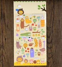 Korea Design Animal Farm 3D Bubble Sticker for Diary Reward Moblie Phone ♫