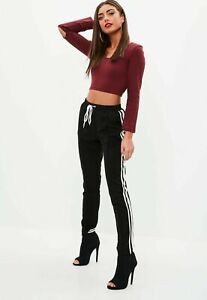 BNWT missguided petite ribbed long sleeve top UK SIZE 4 8 10 14 Burgundy