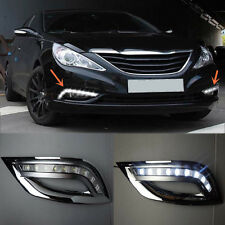 2pcs White LED Daytime Running Fog Lights For Hyundai Sonata 2011-2012