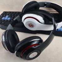 Universal Bluetooth Wireless Headset Over-Ear Stereo Headphone Super Bass BLACK