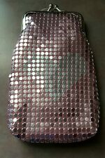Eclipse Mesh Sequin Luxury Fashion Pink 100's Cigarette Snap Case Ultra Soft